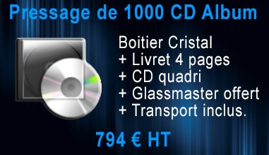 Promo Pressage 1000 CD Album