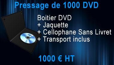 Promo Pressage 1000 DVD